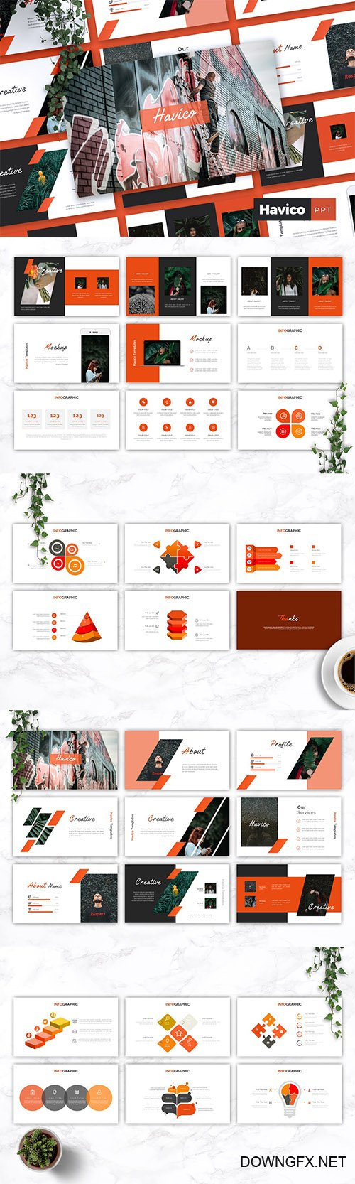 HAVICO - Creative Powerpoint Keynote and Google Slides Templates