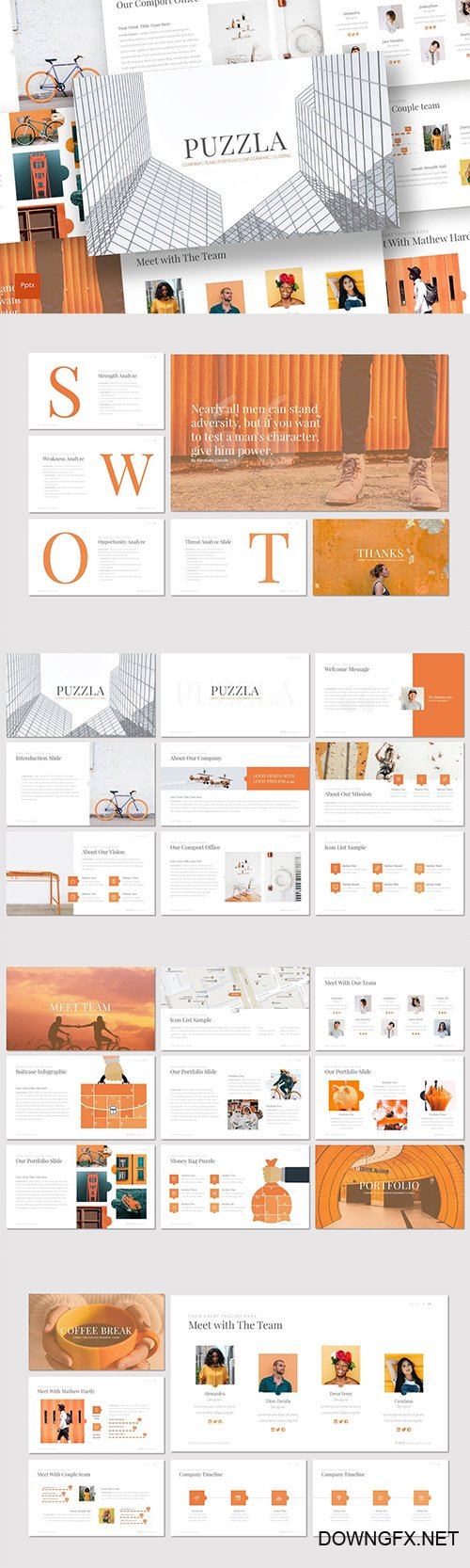 Puzzla - Powerpoint Keynote and Google Slides Templates