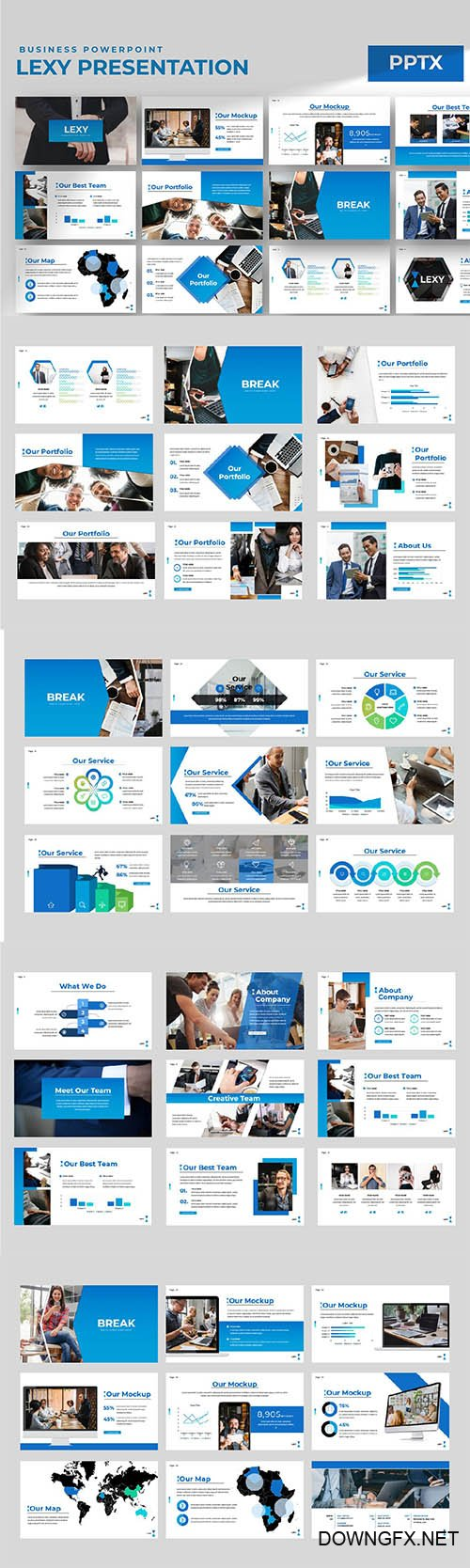 Lexy Business Powerpoint Keynote and Google Slides Templates