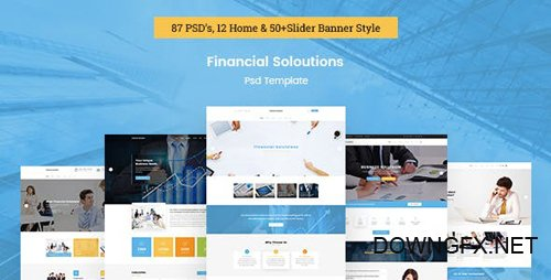 ThemeForest - Financial Solutions - Financial & Business PSD Template (Update: 19 November 16) - 18149138