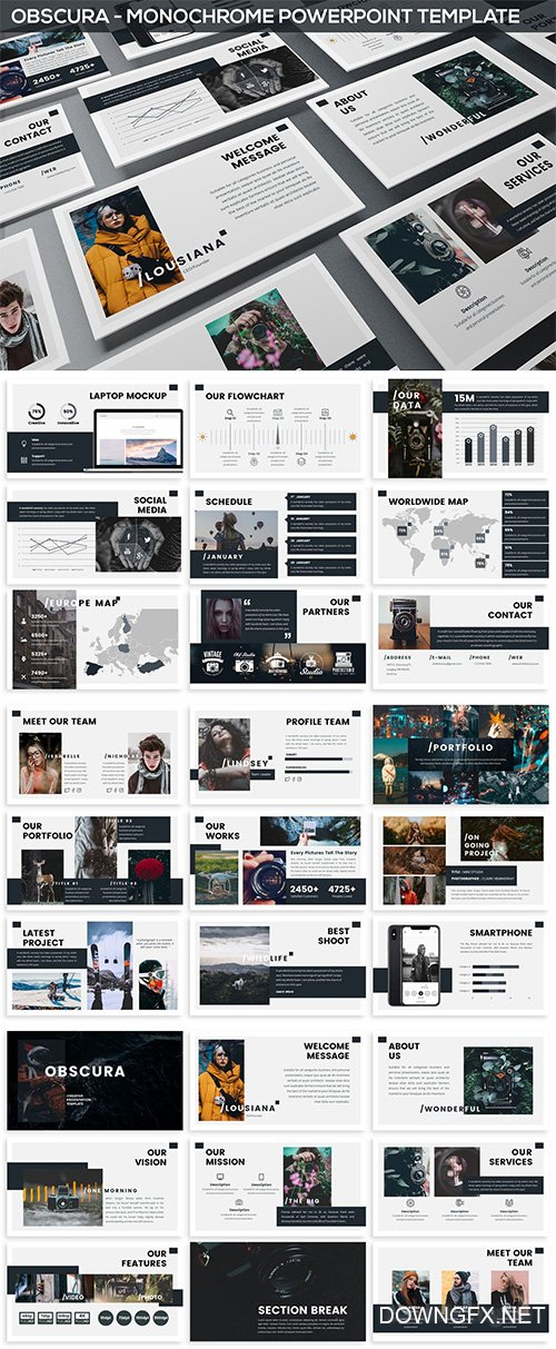 Obscura - Monochrome Powerpoint Template