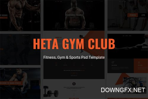 Heta - Fitness, Gym & Sports Psd Template