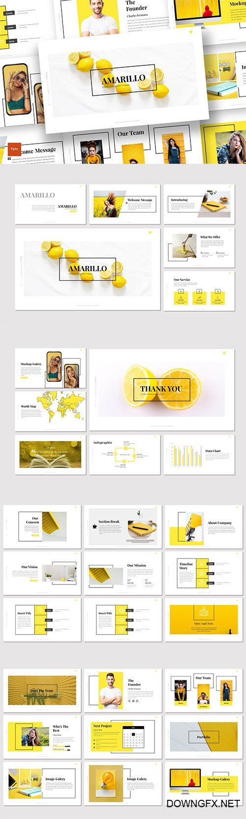 Amarillo - Powerpoint Keynote and Google Slides Templates