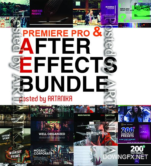 МА - Premiere Pro & After Effects Templates Bundle (February 2019)
