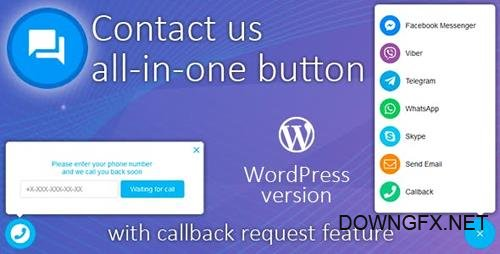 CodeCanyon - All in One Support Button 1.5.2 + Callback Request. WhatsApp, Messenger, Telegram, LiveChat and more... - 22266189