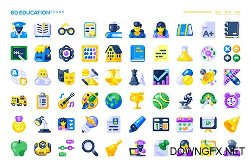 60 Education Icons