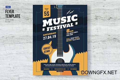 Music Event Festival Flyer Template