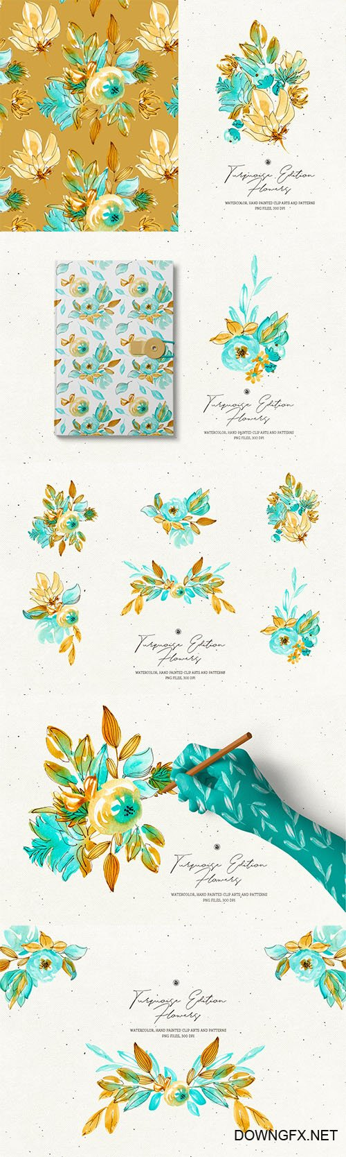 Turquoise Edition Flowers