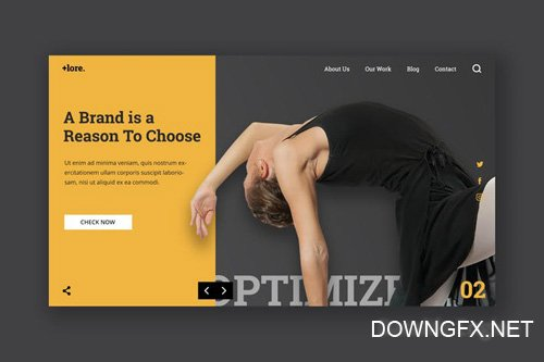 Gym and Fitness Hero Header Template