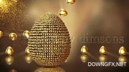 Golden Easter Background Loop 2 23435127