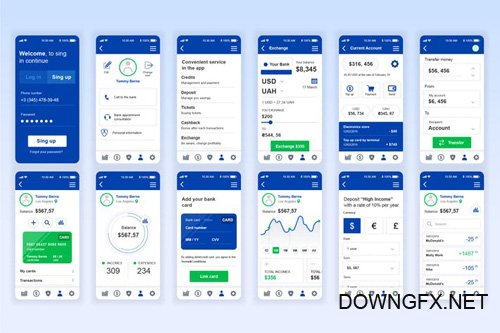 Banking Mobile App UX and UI Kit