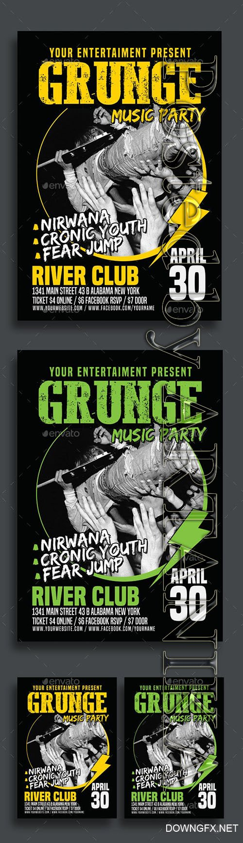 Graphicriver - Grunge Music Party Poster Flyer 15796615