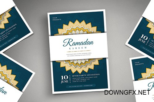 Ramadan Kareem Iftar Party Flyer 02 PSD