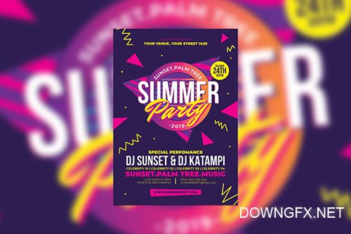 Summer Party PSD