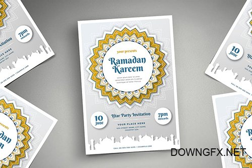 Ramadan Kareem Iftar Party Flyer 03 PSD