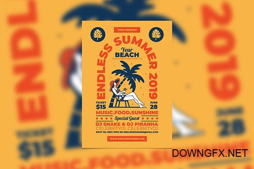 Endless Summer Party PSD