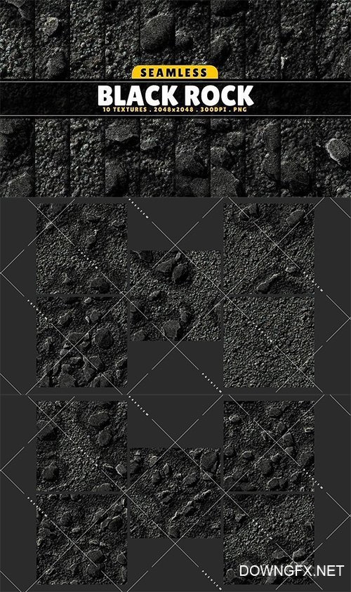 Texture Pack Seamless Black Rock Vol 01 Texture