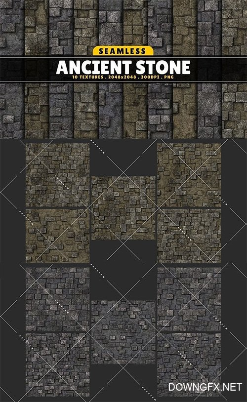 Texture Pack Seamless Ancient Stone Vol 01 Texture