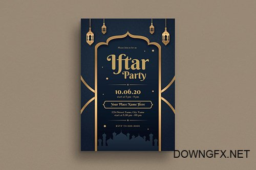 Iftar Party Invitation/Flyer PSD