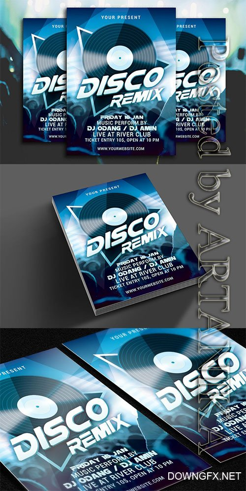 CreativeMarket - Disco Remix Party Flyer 1138654