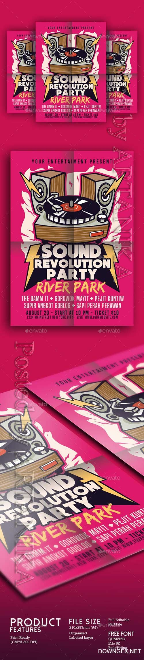 Graphicriver - Sound Revolution Party 17997729