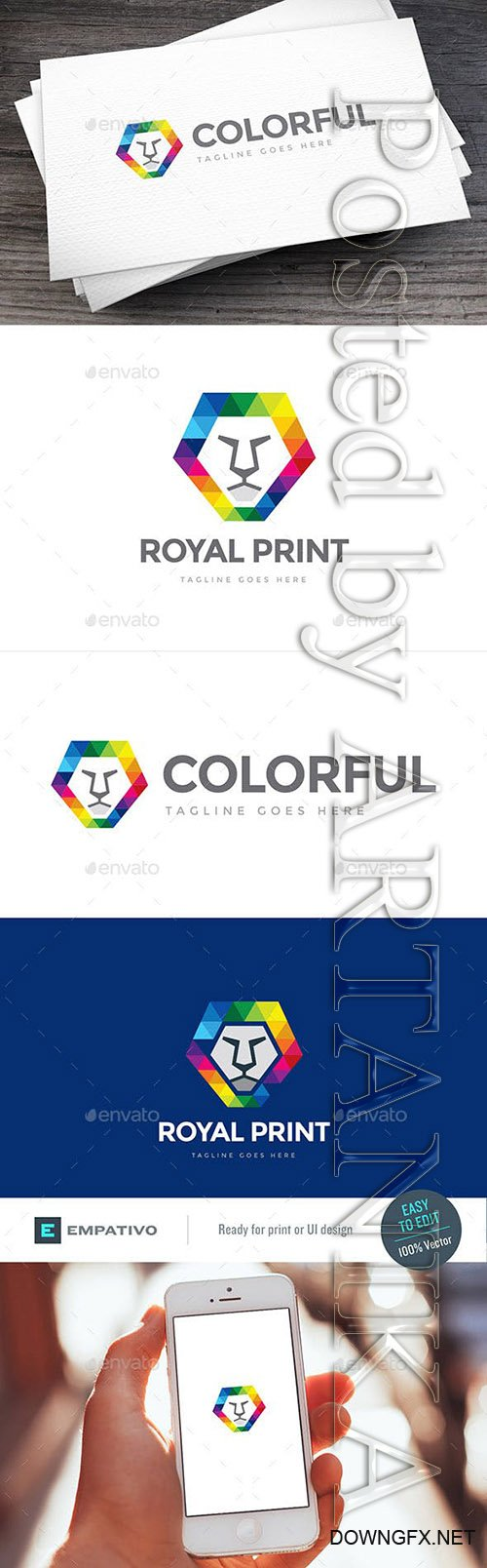 GraphicRiver - Print Lion Logo Template 8099779