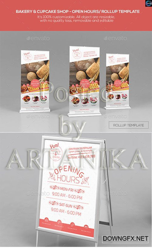 Graphicriver - Bakery and Cupcake Shop-Open Hours/ RollUp Template 12526364