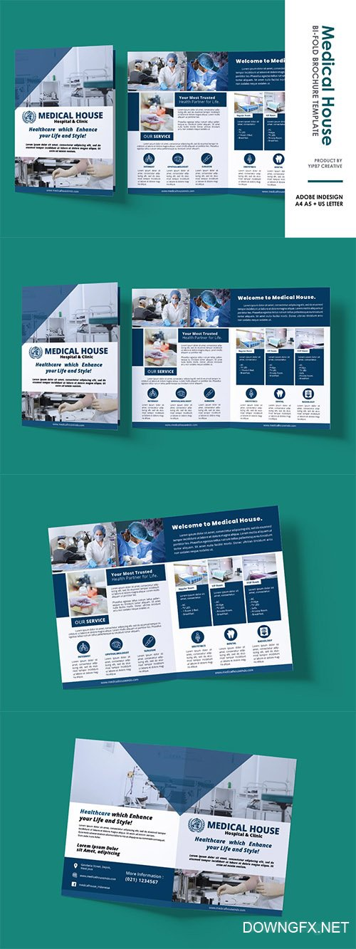 Medical Clinic Bifold Brochure