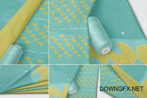 Photorealistic Fabric Mockups PSD