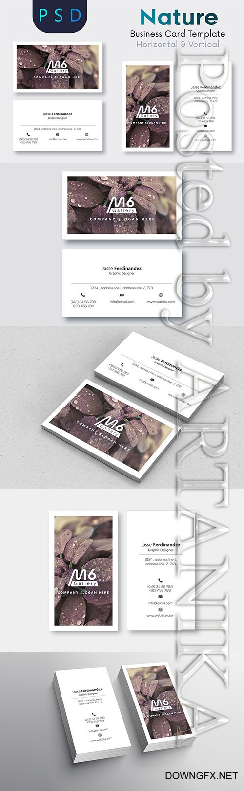 CreativeMarket - Nature Business Card Template - S51 2218925