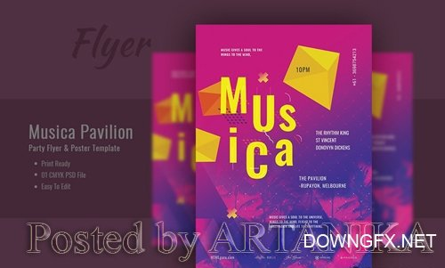 Musica Pavilion Party Flyer and Poster Template