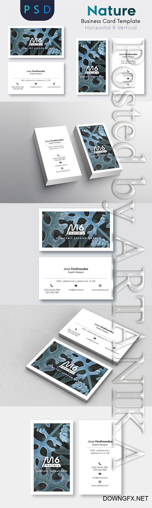CreativeMarket - Nature Business Card Template - S50 2218864