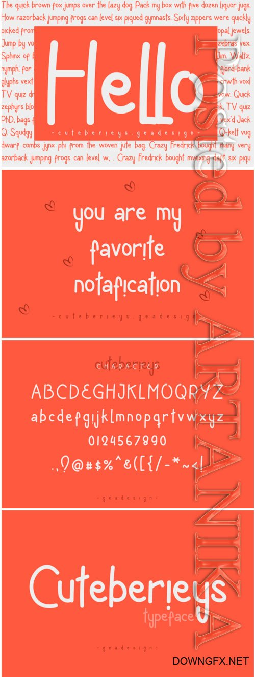 Cuteberieys Typeface Font