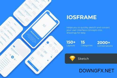 iOS Wireframe Mobile UIT KIT - Sketch Version