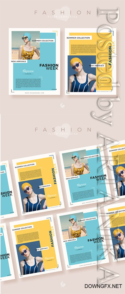 Summer Collection Fashion PSD Flyer Templates 2019
