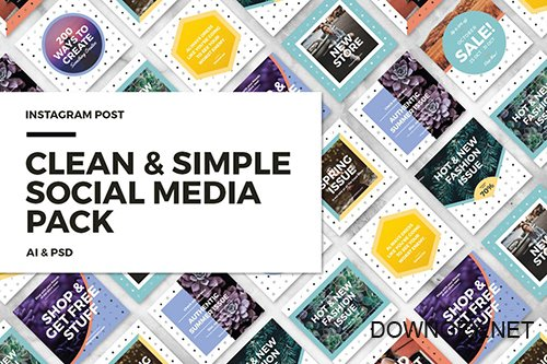 Clean & Simple - Social Media Pack