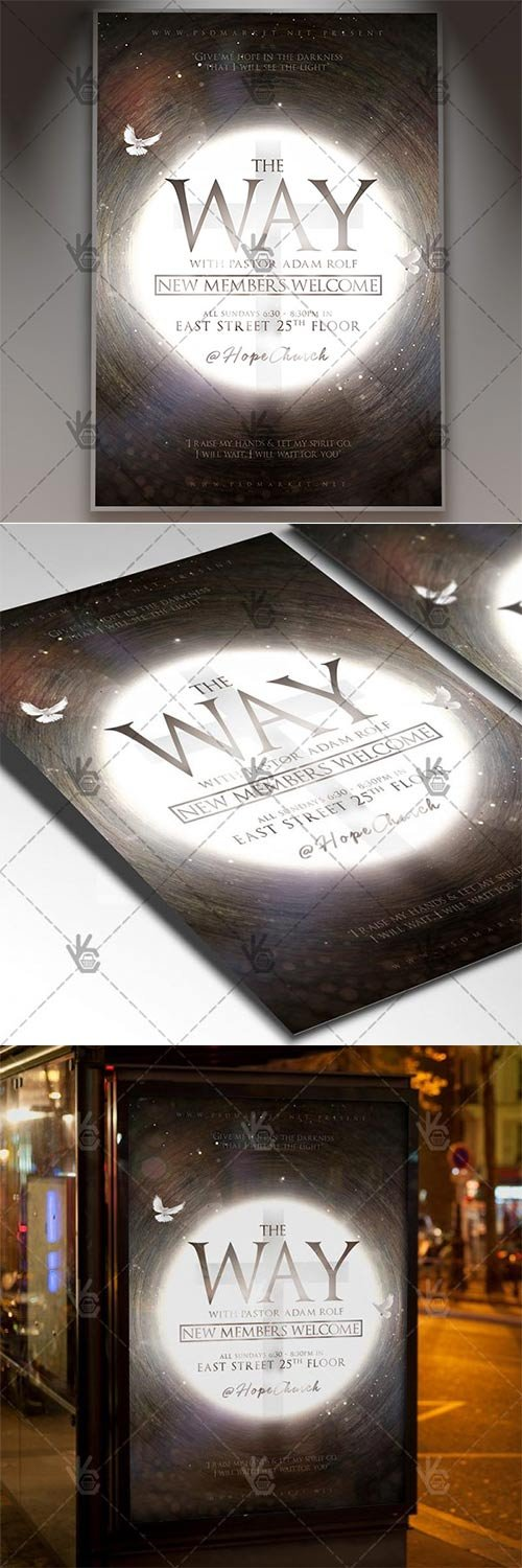 The Way Church Event ? Church Flyer PSD Template