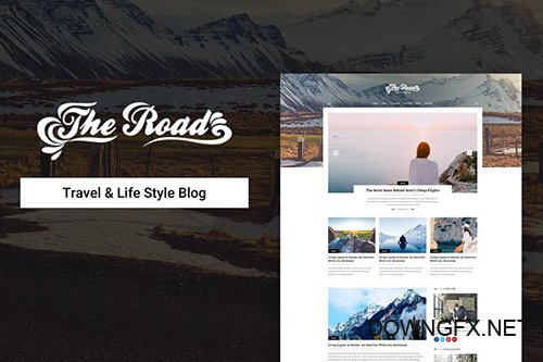 The Road - Life Style & Travel Blog Psd Template