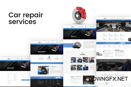 Car repair - Auto Services PSD Template