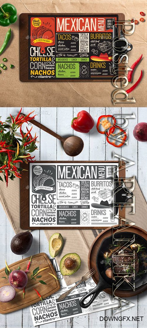 GR - Mexican Food Menu 20951347
