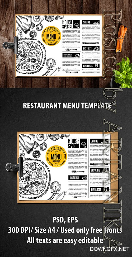 Pizza Menu Template - K7DFJ6