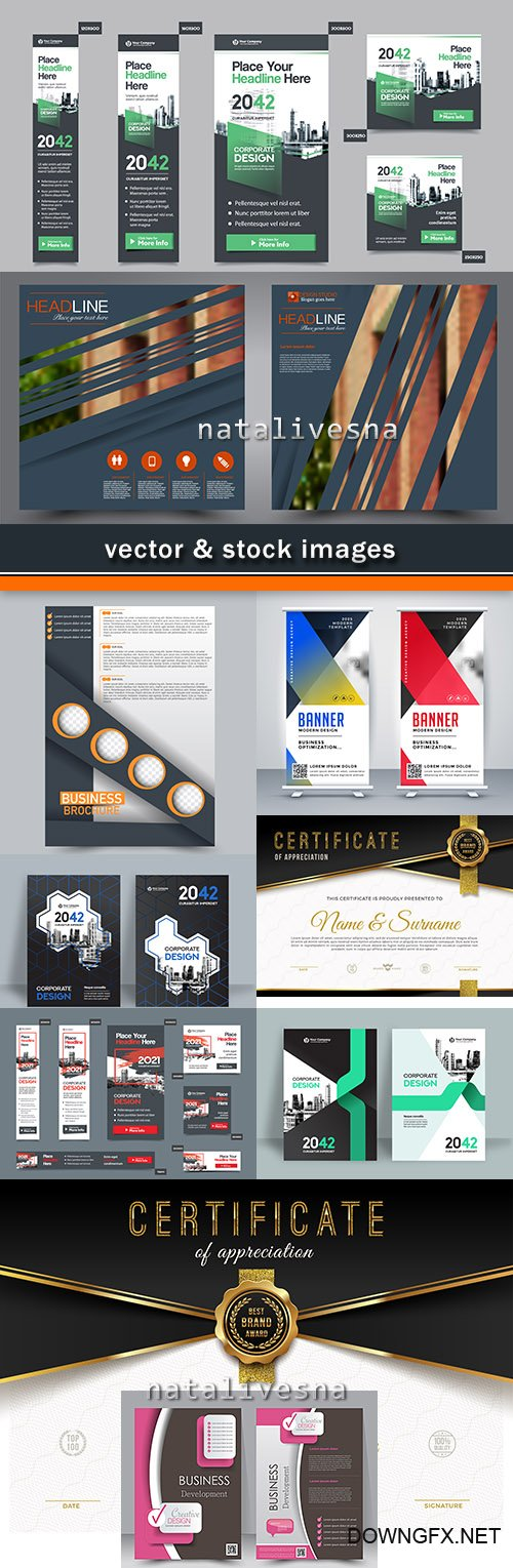 Business templates certificates and banners 38