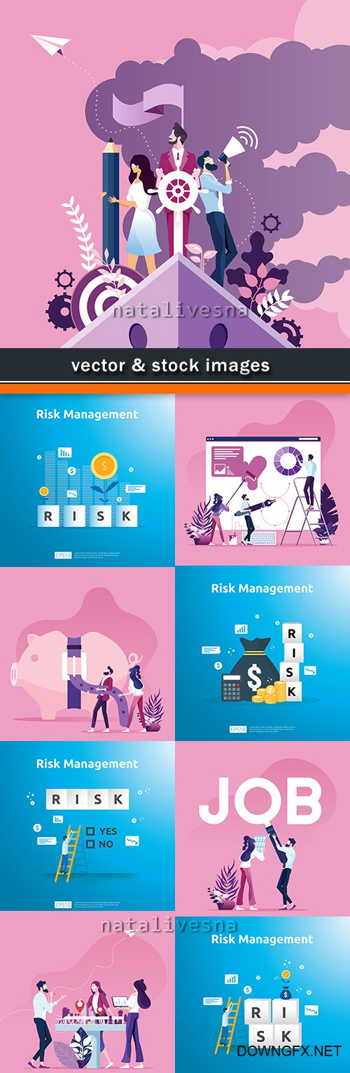 Business management and financial success vector concept