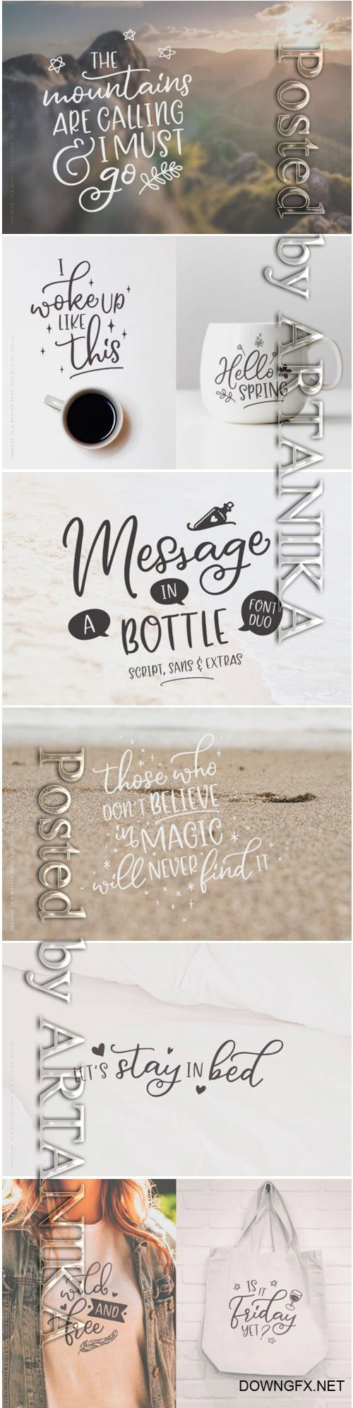 Message in a Bottle Duo Font