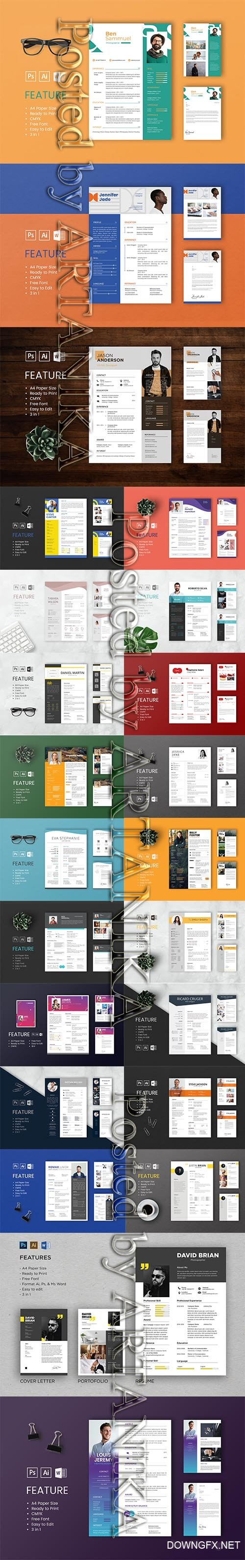 Professional CV and Resume Templates Bundle