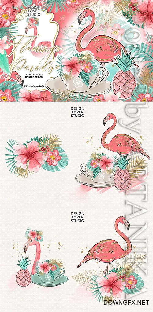 Flamingos Paradise design