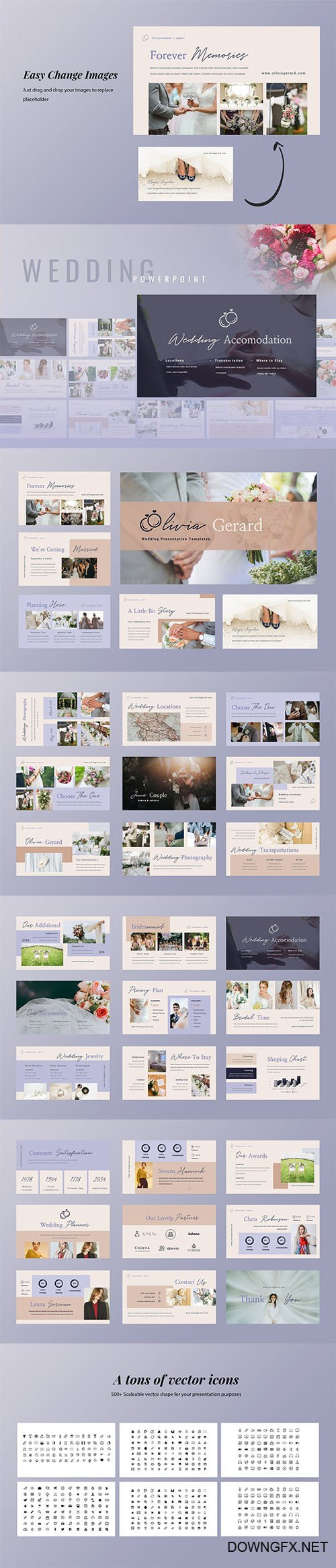 Olivia - Wedding Planner Powerpoint Google Slides and Keynote Templates