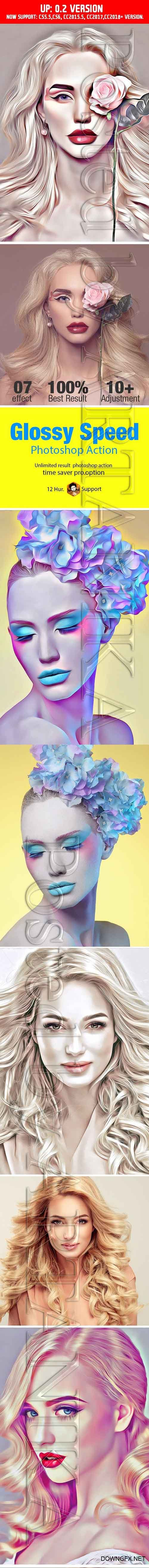 GraphicRiver - Glossy Speed Art Action 21189938