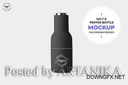 Salt and Pepper Bottle Mockup