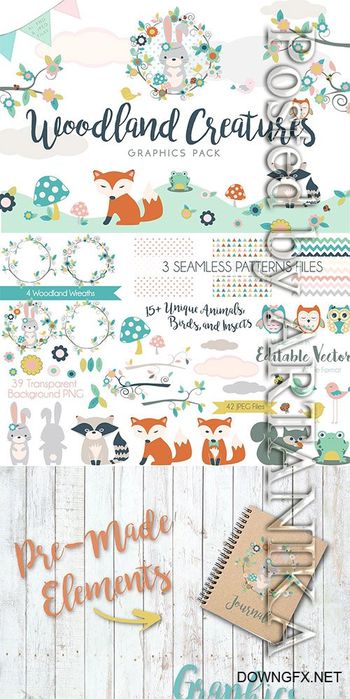 CM - Woodland Creatures Graphics Pack 2261522